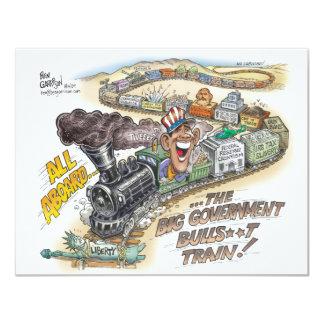 """¡Haga descarrilar el tren! Salga y vote de la Invitación 4.25"""" X 5.5"""""""