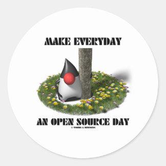 Haga diario un día de Open Source (el duque de Etiquetas Redondas