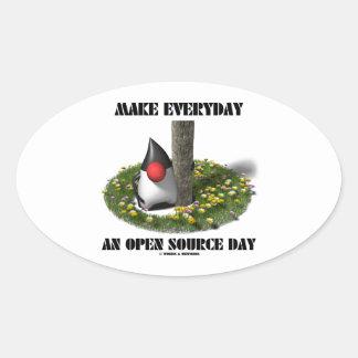 Haga diario un día de Open Source (el duque de Colcomanias Oval Personalizadas