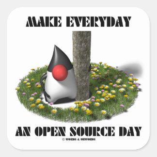 Haga diario un día de Open Source (el duque de Pegatina Cuadradas Personalizada