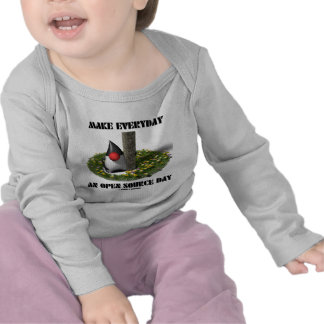Haga diario un día de Open Source (el duque) Camisetas