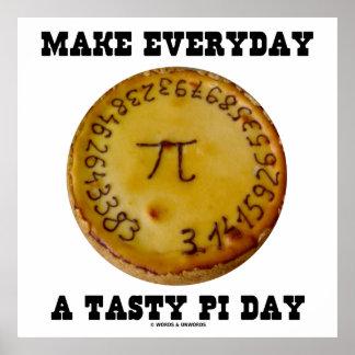 Haga diario un día sabroso del pi (los pi en una e poster