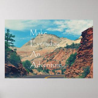 Haga diario una aventura poster