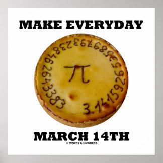 Haga el 14 de marzo diario (el humor de la empanad poster