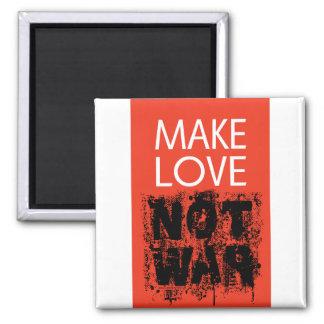 Haga el amor - guerra no fea imán cuadrado