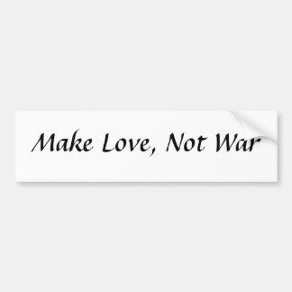 Haga el amor no guerra pegatina de parachoque