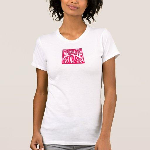 Haga el amor, no guerra - diseño del Hippie para l T-shirt
