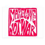 Haga el amor, no guerra - diseño del Hippie para l Postal