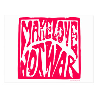 Haga el amor no guerra - diseño del Hippie para l Postal