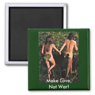 ¡Haga el amor, no guerra! Imán Cuadrado