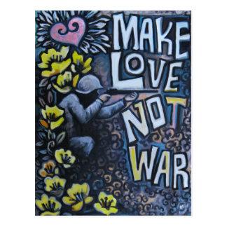 Haga el amor, no guerra: Postal de la propaganda