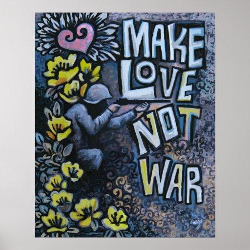 """Haga el amor, no guerra: Poster 16"""" de la propagan"""