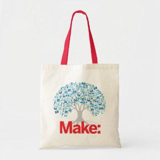 Haga el árbol bolsa tela barata