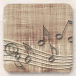Haga el beige de la música 03 posavaso