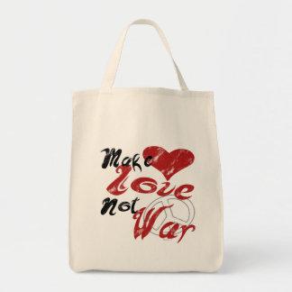 Haga el bolso de la guerra del amor no bolsa de mano