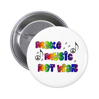 Haga el botón de la música pin redondo de 2 pulgadas
