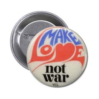 Haga el botón de la paz de los años 60 de la pin redondo de 2 pulgadas