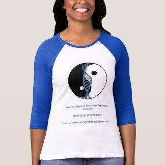 """""""Haga el BPD Estigma-Libre!"""" Jersey de béisbol del T Shirt"""