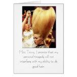 Haga el buen pelo tarjeta de felicitación
