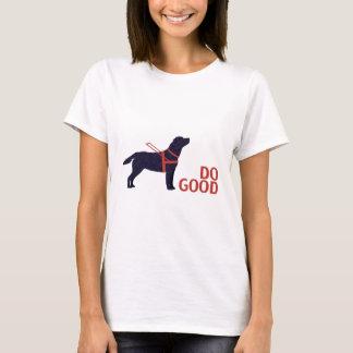 Haga el buen - perro del servicio - laboratorio playera