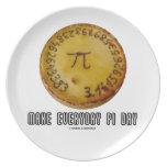 Haga el día diario del pi (matemáticas pi/el humor plato para fiesta
