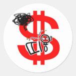 haga el dinero en línea etiqueta redonda