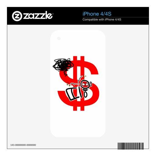 haga el dinero en línea iPhone 4S calcomanías