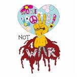 haga el diseño del vector de la guerra del amor no escultura fotográfica