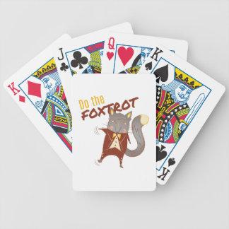 Haga el Foxtrot Cartas De Juego
