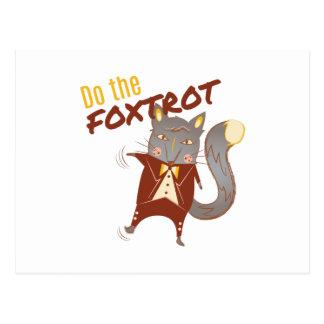 Haga el Foxtrot Postales