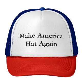 Haga el gorra del gorra de América otra vez