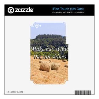 Haga el heno mientras que el sol brilla las balas skins para iPod touch 4G