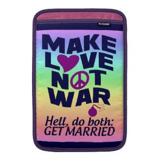 Haga el iPad de la guerra del amor no/la manga del Funda Macbook Air