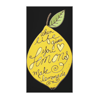 Haga el limón de la limonada lienzo envuelto para galerias