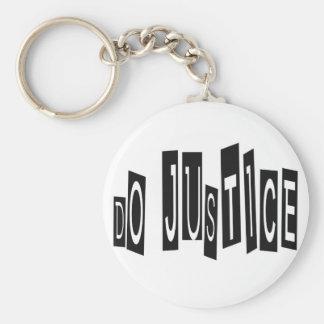 Haga el llavero de la justicia