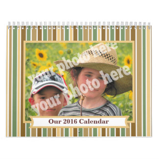 Haga el marco rayado calendario de la imagen de la