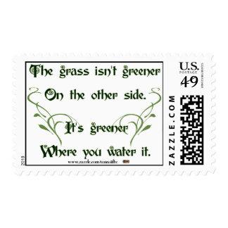 Haga el más verde de hierba estampilla