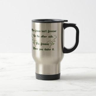Haga el más verde de hierba taza de viaje