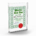 Haga el mejor certificado del papá de un mundo