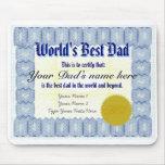 Haga el mejor certificado Mousepad del papá de un  Alfombrillas De Raton