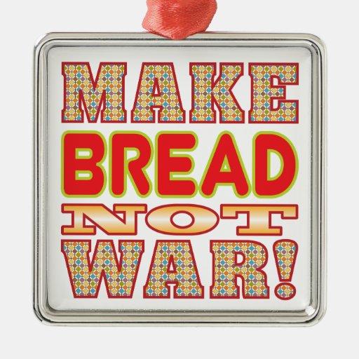 Haga el pan v2b adorno cuadrado plateado