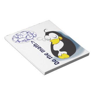 Haga el pingüino el dormir de la matemáticas que blocs