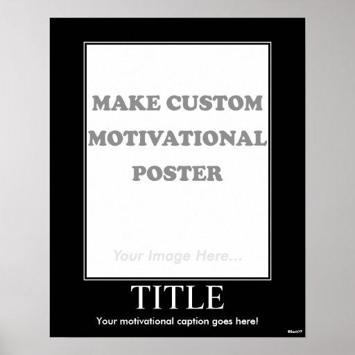 Haga el poster de motivación de encargo (el retrat