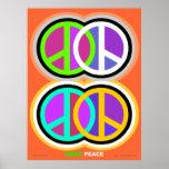 Haga el poster makepeaceart.com de la paz