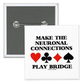 Haga el puente del juego de las conexiones neurona pins