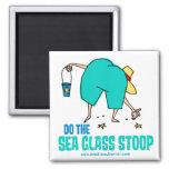¡Haga el Stoop de cristal del mar! Imanes De Nevera