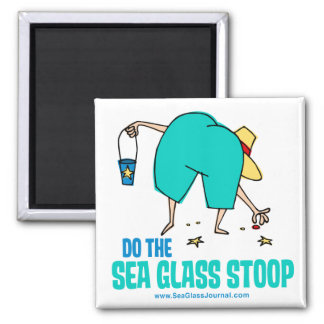 ¡Haga el Stoop de cristal del mar Imanes De Nevera