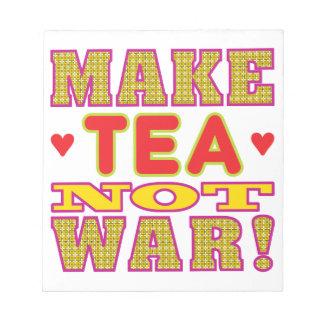 Haga el té bloc de papel