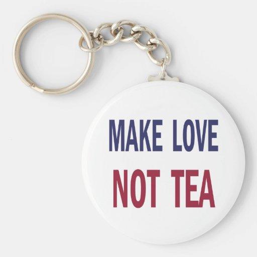 Haga el té del amor no llaveros
