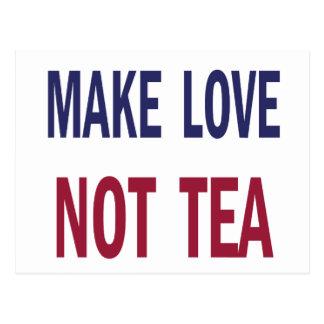 Haga el té del amor no postales